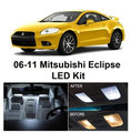 Envío gratis 4 unids/lote paquete kit xenon blanco led luces interiores para mitsubishi eclipse 2006-2011