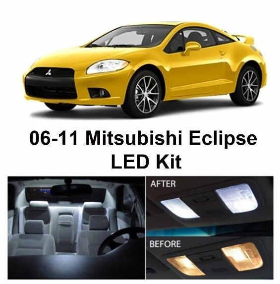 Envío gratis 4 unids/lote Kit de paquete de xenón blanco con estilo para coche luces interiores LED para Mitsubishi Eclipse 2006-2011