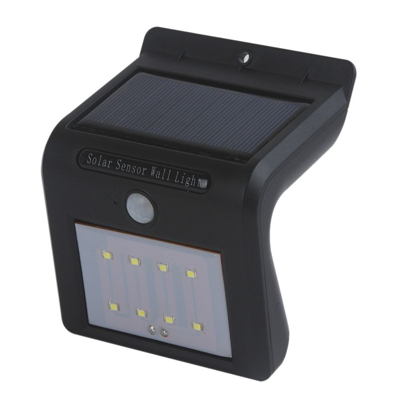 High Quality 8/16 LED Solar Lights Outdoor Solar Powered Motion Sensor Security Wall Light (Black) Summer Outdoor Lighting l806 solar 8 led light black
