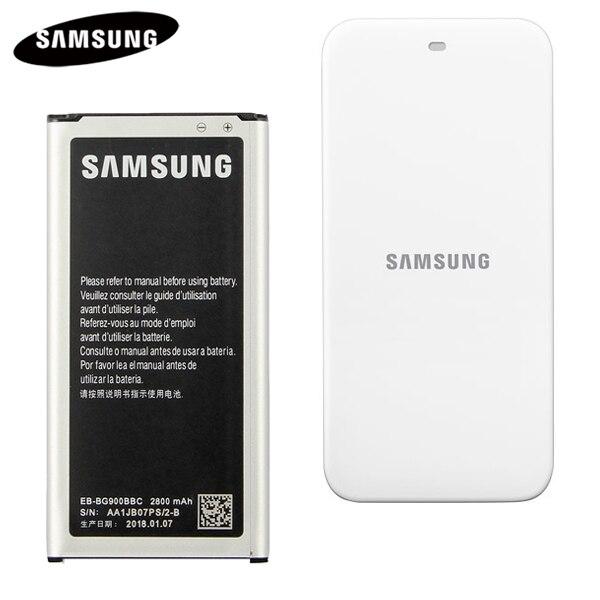 100% Original Batterie + Cradle Dock Ladegerät EB-BG900BBC Für Samsung GALAXY S5 9006 v 9008 watt 9006 watt G900S G900F g9008V 2800 mah