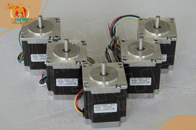 Top Selling! Wantai 5PCS Nema23 Stepper Motor 57BYGH420 185oz-in 56mm 2A CE ROHS ISO CNC Router US CA UK IT FR DK JP Free