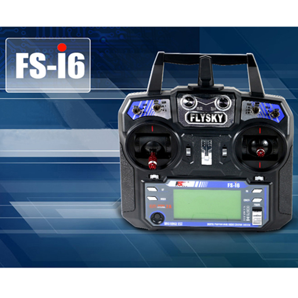 Flysky FS-i6 FS I6 2.4G 6ch RC Transmitter Controller FS-iA6 or FS-iA6B Receiver For RC Helicopter Plane Quadcopter Glider drone flysky 2 4g 6ch channel fs t6 transmitter receiver radio system remote controller mode1 2 lcd w rx rc helicopter multirotor