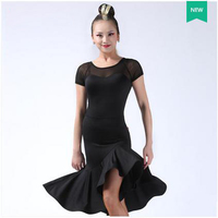 New Latin Dance Costumes Sexy Senior Gauze Short Sleeves Latin Dance Dress For Women Latin Dance