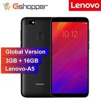 Lenovo A5 глобальная версия 3 ГБ ОЗУ 16 Гб ПЗУ мобильный телефон MTK6739 четырехъядерный 5,45 'смартфон отпечаток пальца 4G-LTE мобильный телефон
