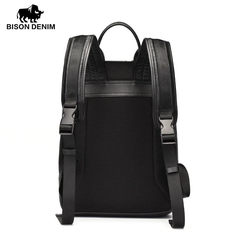 denim bisonte 2017 genuíno mochila Material Principal : Couro Genuíno