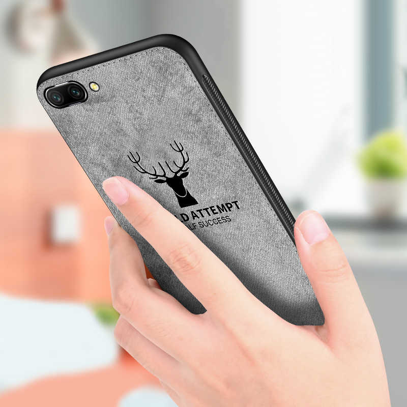 Fabric Cloth Texture Phone Case For Huawei Honor 10 Lite 8 9 Light 8X Bumper 10 Lite 3D Ultra Thin Soft Silicone Cover