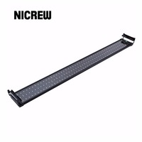 Nicrew 118 136cm Aquarium LED Lighting Fish Tank Light Lamp with Extendable Brackets 150 White 30 Blue LEDs Fits for Aquarium