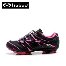 TIEBAO MTB Cycling Shoes off road Pink zapatillas Shoes Bicycle Mountain Women sapatilha ciclismo mtb sneakers women