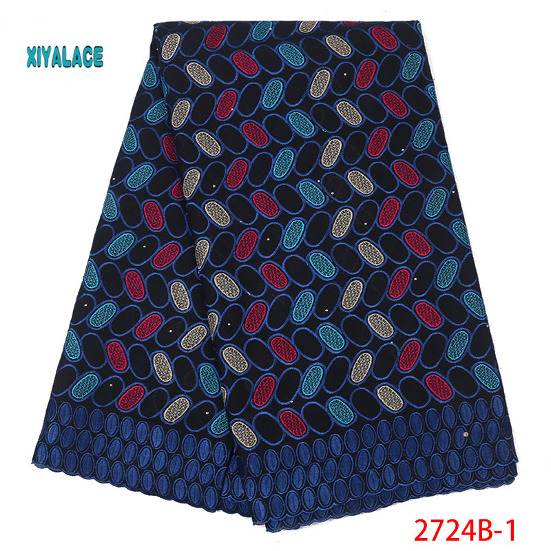 African  Lace Fabrics 2019 Nigerian Swiss Voile Lace High Quality French Swiss Voile Lace  Nigerian For Wedding YA2724B-1