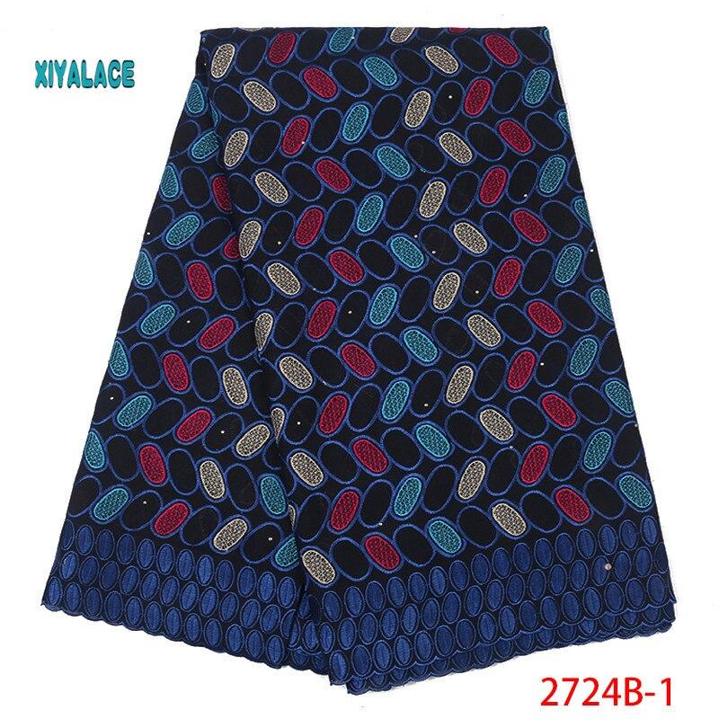 African  Lace Fabrics 2019 Nigerian Swiss Voile Lace High Quality French Swiss Voile Lace  Nigerian For Wedding YA2724B-1