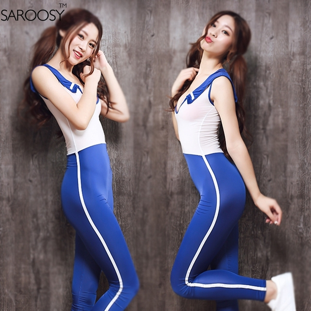 SAROOSY 2017 New Sexy Kawaii Cosplay Costumes Jumpsuit for Women Japanese Student High Elastic Bodysuit Top Selling Costumes