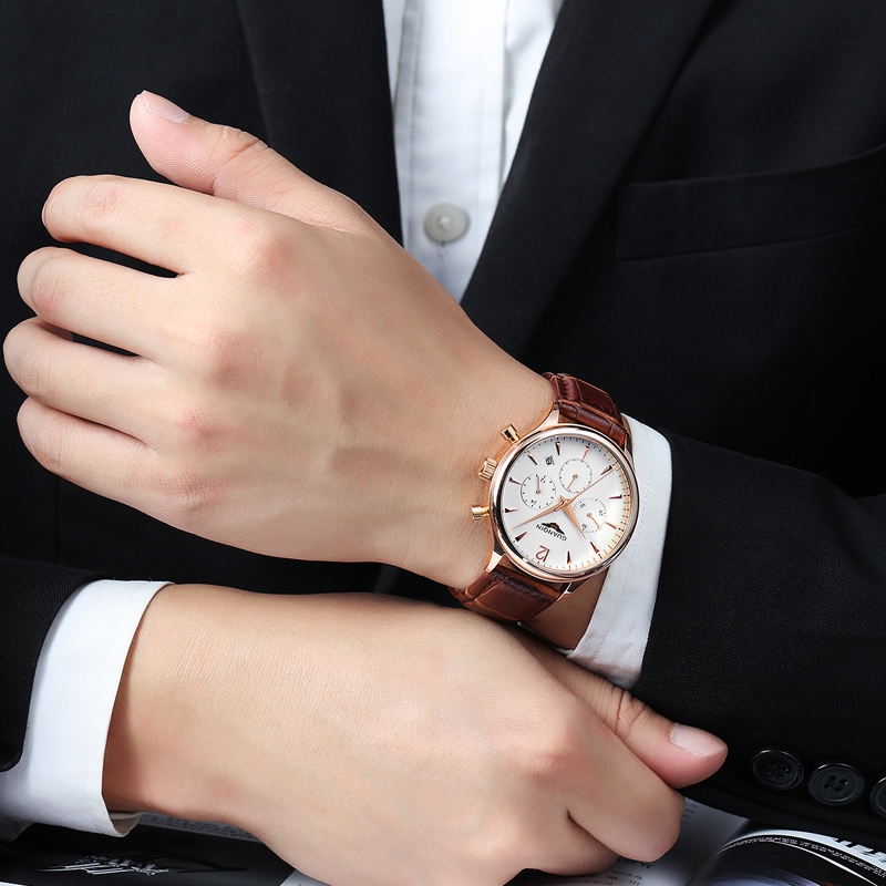 Подробнее о Top Brand Luxury  Mens Watches GUANQIN Fashion Quartz Watch Men Military Sport Clock Leather Strap Wristwatch Relogio Masculino new brand men watches luxury sport quartz watch natural wood number wristwatch fashion leather clock relogio masculino lz254