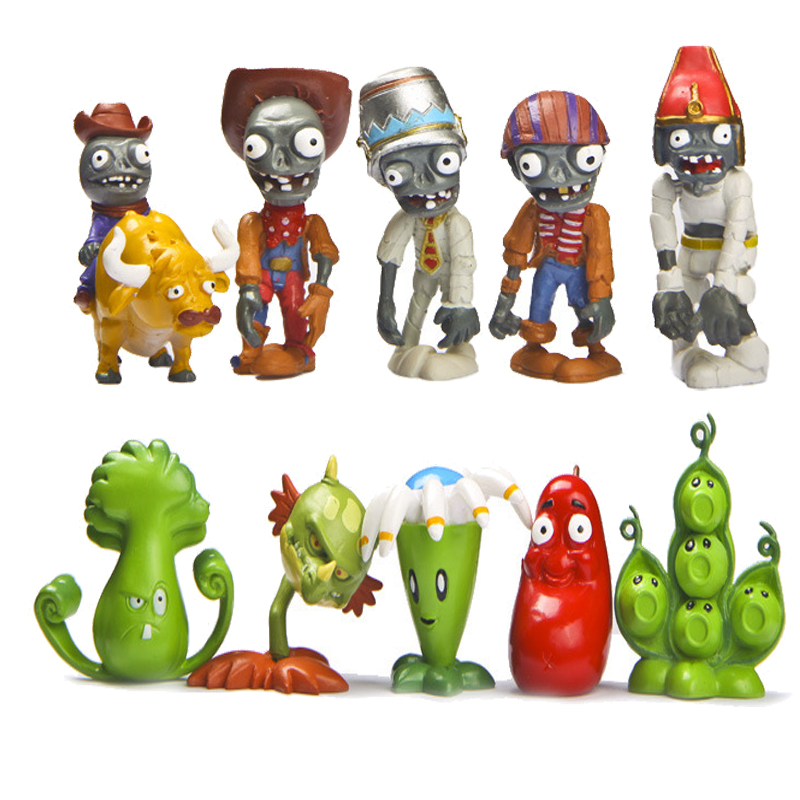 Plants Vs Zombies 10 PCS Game Action Figure Cake Topper Kids Gift Doll Toys US