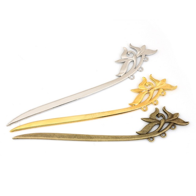 1pc/lot Hairwear High Quality Sword Shape Alloy Pins Hot Fashion Chinese Style Hairpins For Women's Hair Accessories