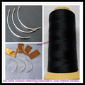 1 Roll  Black Color  Nylon Weaving Thread / High Intensity Polyamide Nylon Thread+12units 90mm weaving needles free gift