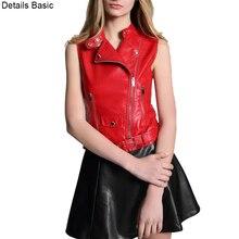 2018 New red vest women colete feminine waistcoat suede baya