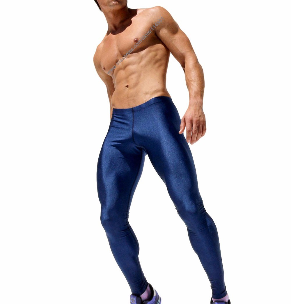 Men\'s Sexy Tight Pants Fashion Full Length Pants Casual Slim Fitted Sweatpants Elastic Men\'s Active Pro Wokrout Pants  (11)