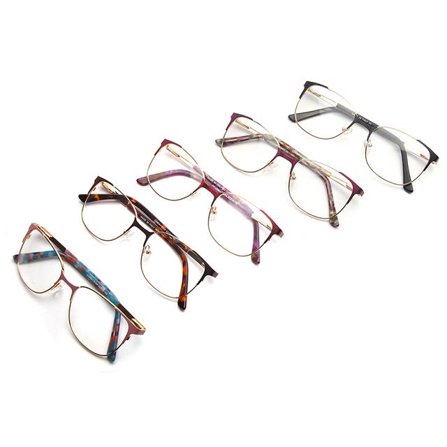 Black Gold Patchwork Metal Optical Glasses