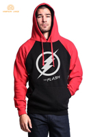 Super Hero Flash Casual Con Cappuccio Da Uomo 2017 Autunno Panno Morbido di Inverno di Modo Felpa Da Uomo Caldo Raglan Hoodies Film Marchio di Abbigliamento