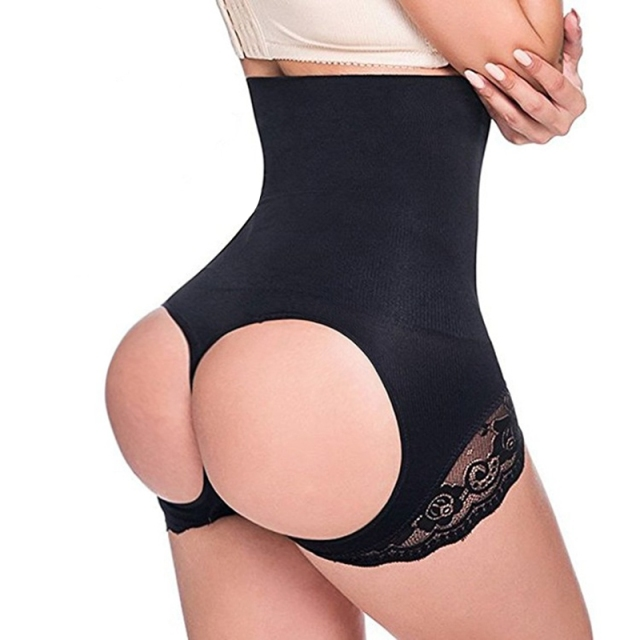 cb48030f12afb Sexy Women High Waist Trainer Butt Lifter Hot Body Shaper Lace Tummy Control  Slimming Briefs Corset Panties Shapewear Underwear