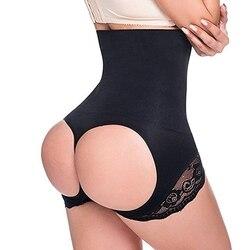 Sexy femmes taille haute formateur bout à bout chaud corps Shaper dentelle ventre contrôle minceur slips Corset culottes Shapewear sous-vêtements