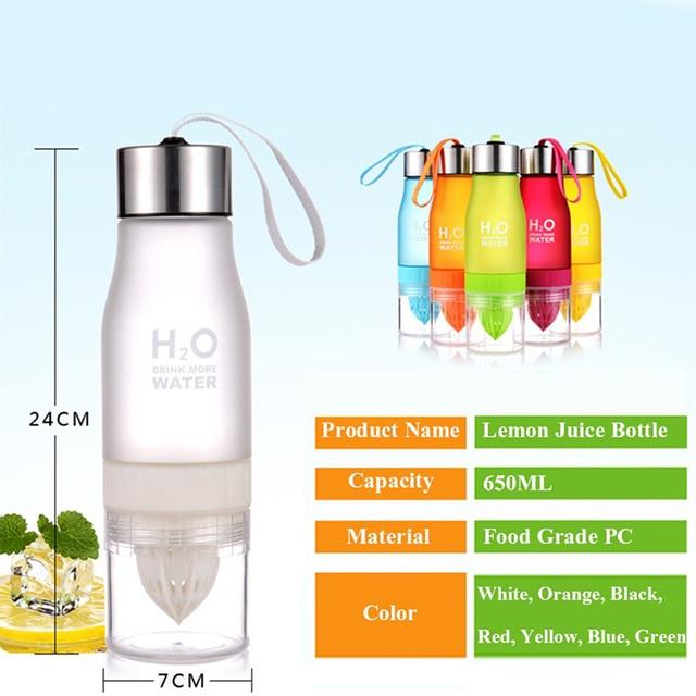 Transhome Creative Fruit Juice Infuser Water Bottle 650ml 6