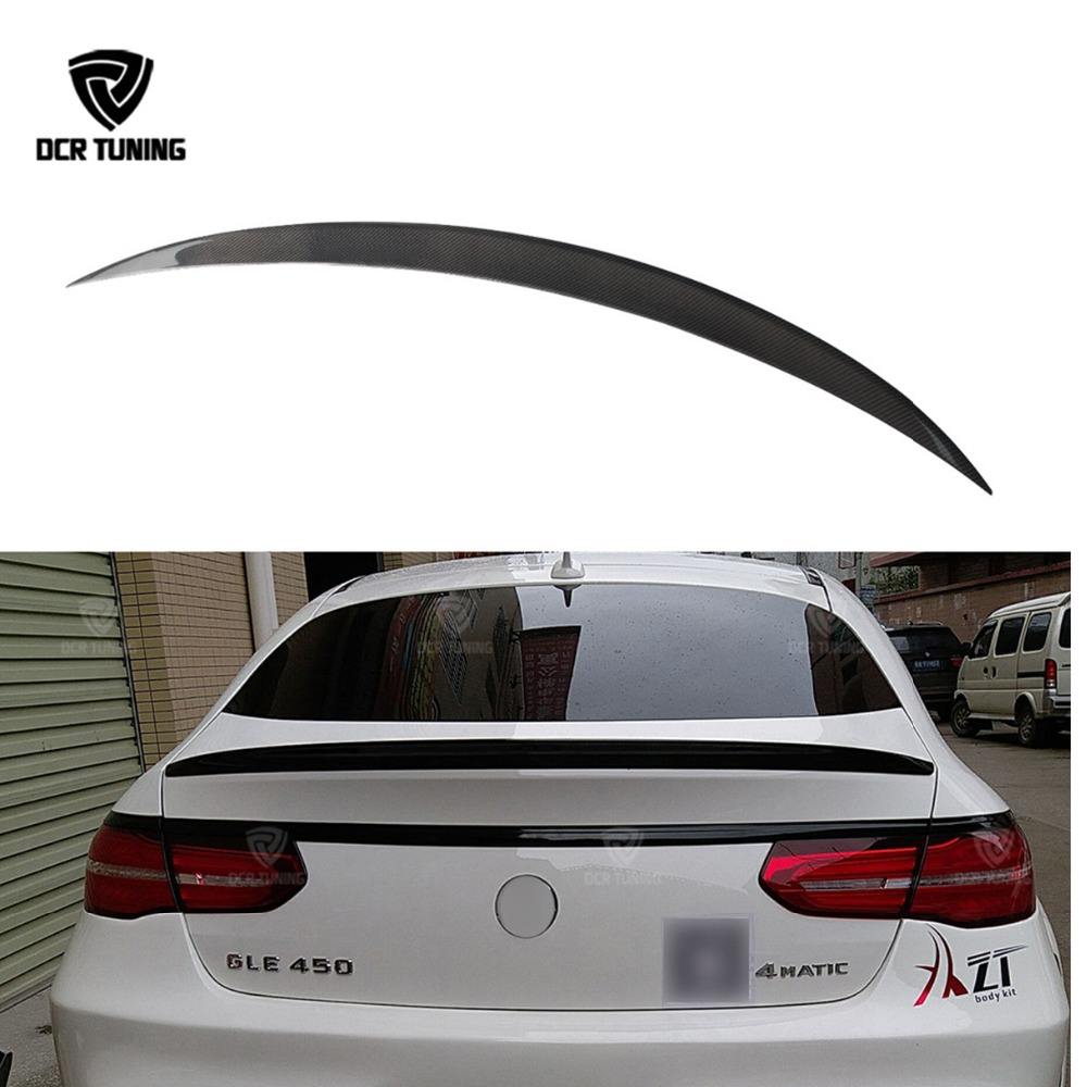 Carbon fiber rear trunk spoiler For Mercedes GLE coupe Spoiler for Benz GLE class W166 GLE63