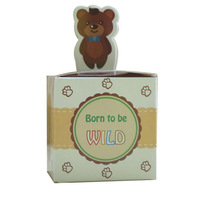 Bear Animal Candy Box With Born To Be Wild Jungle Safari Baby Shower Party Favors Tt3