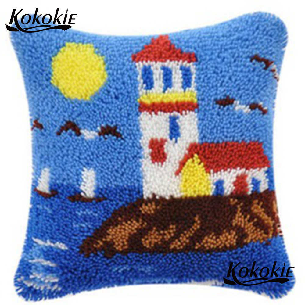 Cross Sch Pillow Kits Latch Hook Rug