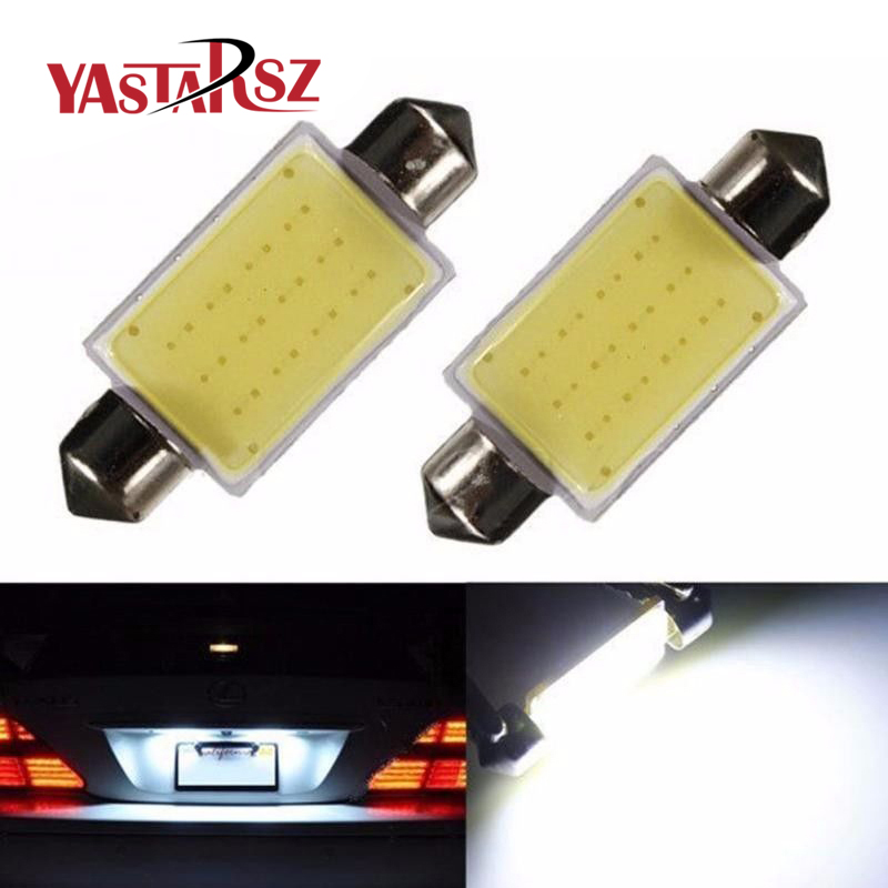 Car styling 31mm/36mm/39mm 12V Festoon LED Car Bulb Parking CANBUS C5W COB LED SIZE Interior White SMD Bulb Reading lights 2pcs 12v 31mm 36mm 39mm 41mm canbus led auto festoon light error free interior doom lamp car styling for volvo bmw audi benz