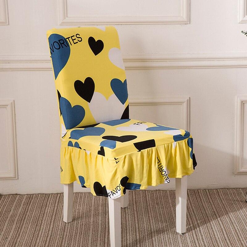 Jupe style couverture Amovible Couverture de Chaise Stretch Élastique housses Restaurant Pour Mariages Banquet Pliante Hôtel Couverture de Chaise