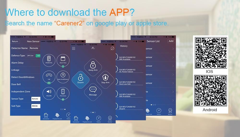 HTB1TC3PKhGYBuNjy0Fnq6x5lpXa7 - Free shipping from Russian Spain 3g gsm wifi alarm Android IOS mobile phone control smart home burglar alarm system