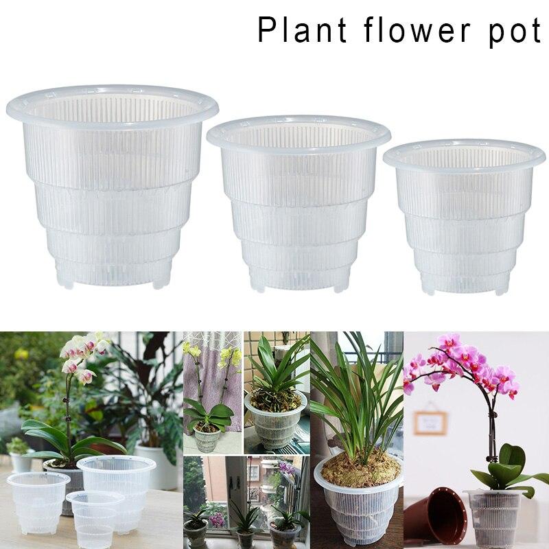 Plastic Mesh Pot Orchid Flower Planter Container Home Gardening Decor UYT Shop