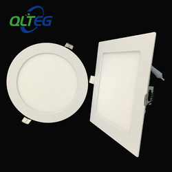 10pcs 3w 6W 9W 12W 15W 18W 24W Square LED panel downlight ultra thin LED ceiling recessed panel light AC85-265V led bulb lamps