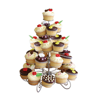5 Tiers 41 Cup Bun Cake Dessert Showing Stand Snacks Cupcake Display Plate Stand For Afternoon Tea Lovers Party Office Supplies
