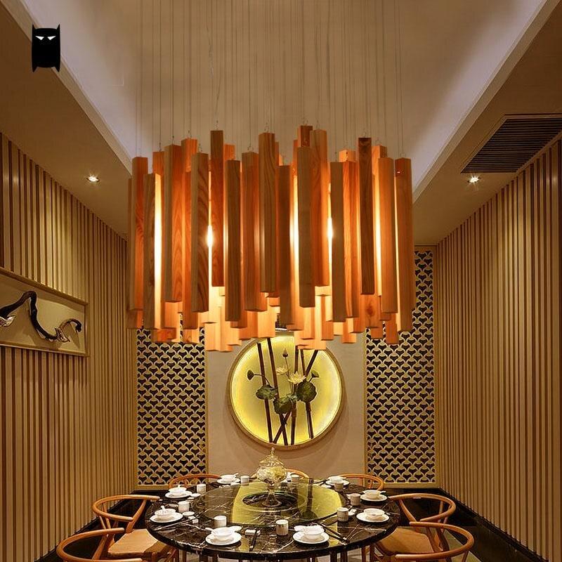 ch ne bois droplight lustre cordon mobilier nordique japon. Black Bedroom Furniture Sets. Home Design Ideas