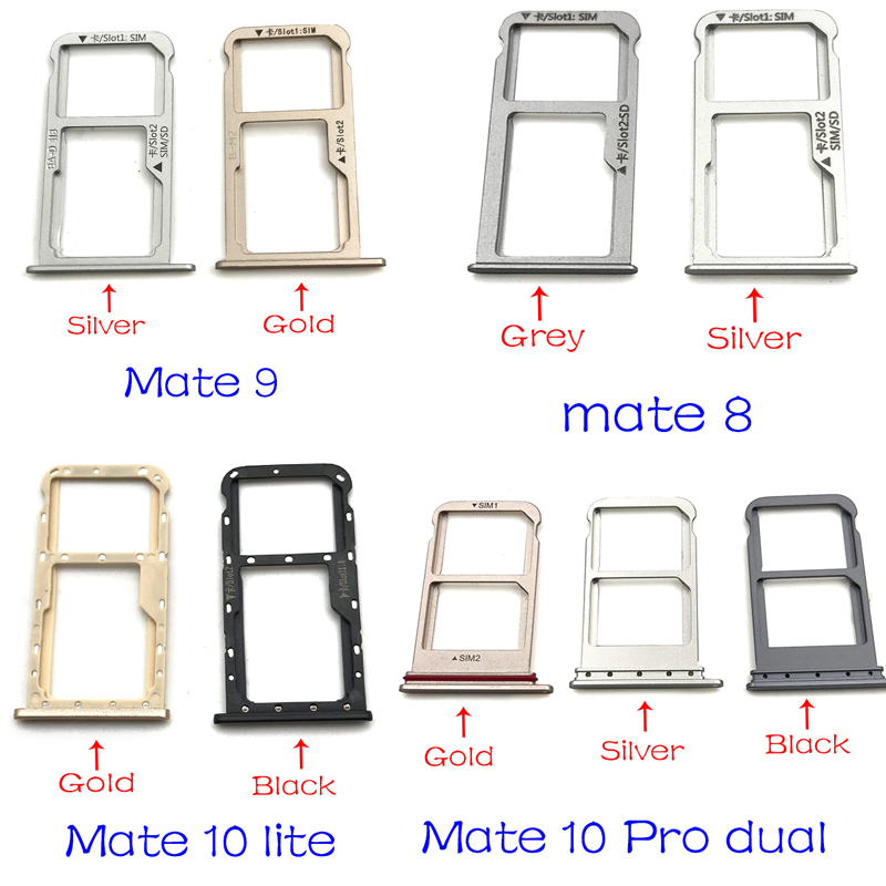 For Huawei Mate 8 9 10 Lite Pro Micro Nano SIM Card Holder Tray Slot Holder Adapter Socket