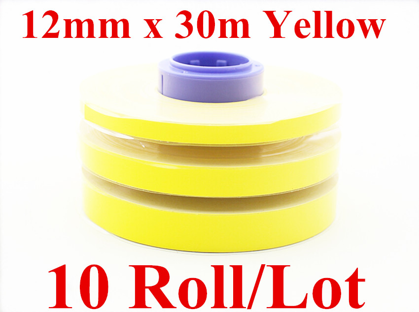 Wire marker Label Tapes Core(Yellow)3476A028AB For cable ID printer  ferrule printing machine Mk2000 Mk1100,Mk2100,Mk1500,Mk2500