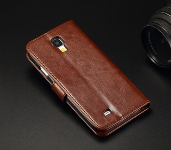 19ccbf1510e Para Galaxy S4 GT-I9515 I9500 I9505 SIV 919 747 cartera Funda de cuero para  Samsung Galaxy S4 mini S4 4 mini GT-i9195 i9190 i9192 Duos