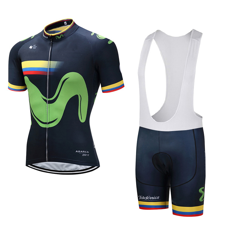 Colombia New uci team Black pro cycling jersey bike short SET MTB Ropa Ciclismo cycling wear mens Cycling Maillot Culotte GEL