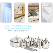 14PCS 3-70mm Glass Hole Saw power tools Diamond Coated Core Hole Saw Marble Drill Bit set Tile Ceramic Glass Porcelain Drilling(China)