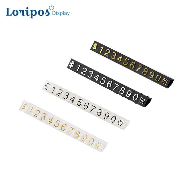 Large Combined Price Tag Dollar Euro, Snap Number Digit Cubes Stick Clothes Phone Laptop Jewelry Showcase Counter Display Sign