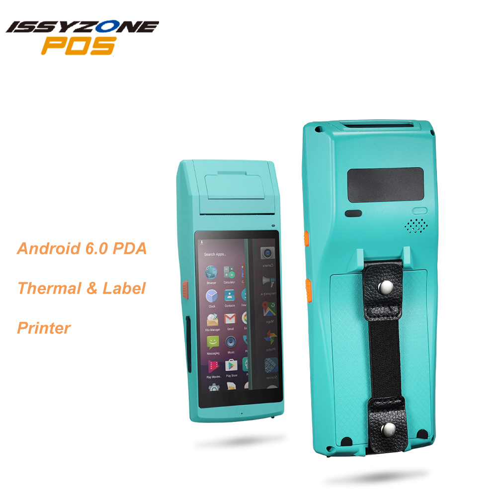 ISSYZONEPOS Android PDA Handhled Computer POS Terminal 58mm Thermal Label Printer WIFI Bluetooth NFC 3G FRFE SDK Data Collector