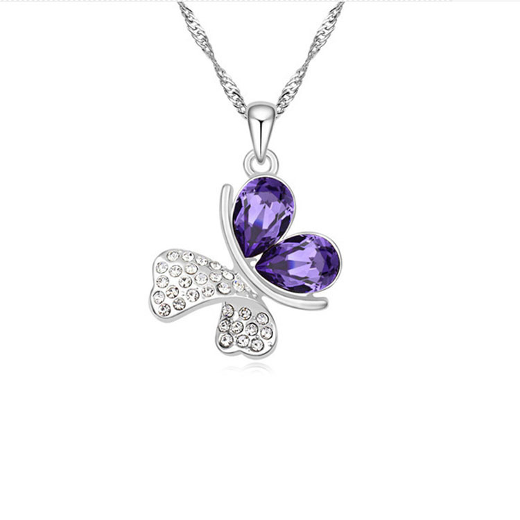 Romantic Butterfly crystal Necklace 2