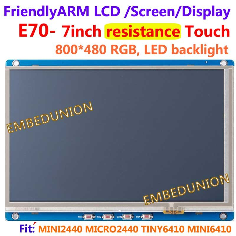 , FriendlyARM E70, תצוגת מגע התנגדות עם מסך מגע 7 אינץ ', עבור S3C2440 MINI2440 MICRO2440 GQ2440 FL2440