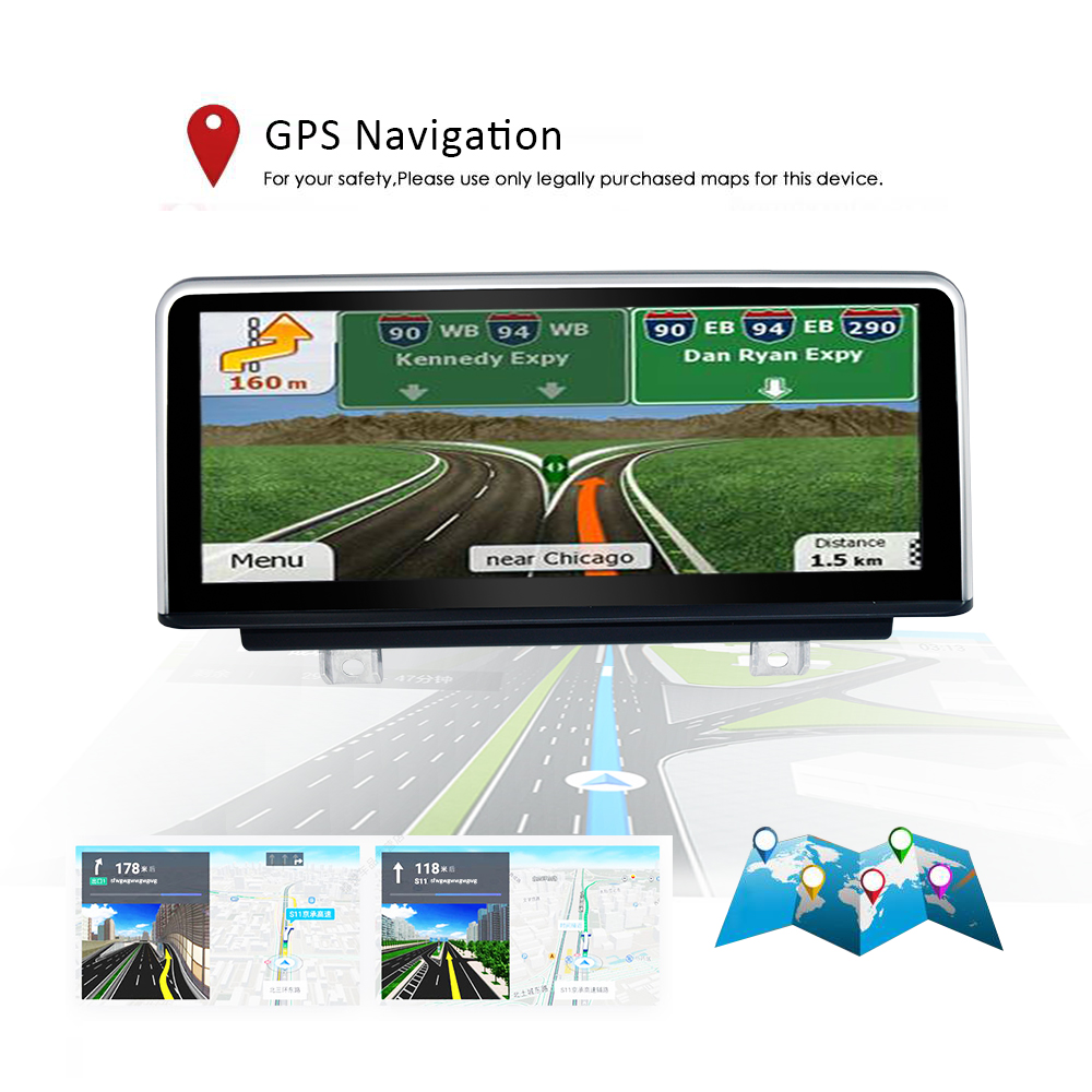 """Android 8.1 PX6 Car Video Stereo Multimedia Player 10.25"""" IPS LCD Screen for BMW 3 Series F30 2018 EVO GPS Navigation BT Player