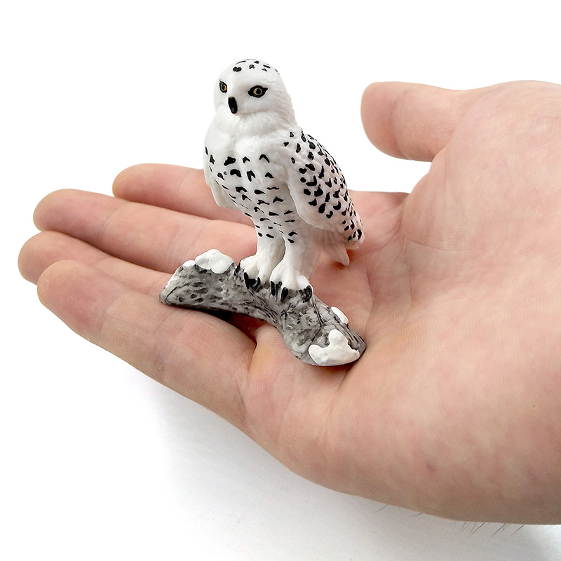Simulation Forest Bald eagle Snowy Owl Figures Miniature Animal Model bird Figurine fairy Plastic craft Decoration Home decor in Figurines Miniatures from Home Garden