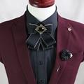New Free Shipping fashion male MEN'S wedding groom Groomsmen Korean bow collar Brooch retro blouse tie presided on sale