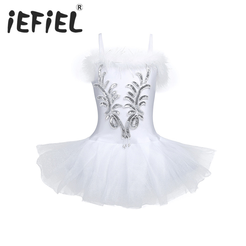 iEFiEL Kids Ball Gown Dress Party Fancy Costume Cosplay Tutu Leotard Dress Girls Ballet Flower Dancewear Performance Clothes