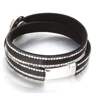 Image 3 - 10pcs/lot Snap Button Jewelry DIY 18mm Snap Buttons Bracelet Crystal Leather Magnet Bracelet Length 40CM Buttons Jewelry